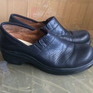 ARIAT Santa Cruz Leather Shoes Clogs Black Sz 10 B